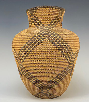 Western Apache Woven Basketry Olla