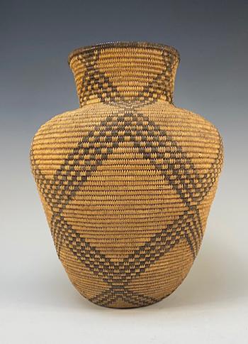 Western Apache Woven Basketry Olla